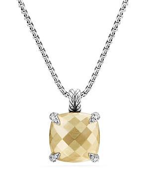 David Yurman Chatelaine Pendant Necklace With 18k Gold And Diamonds