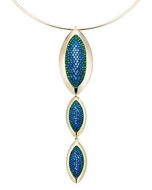 Atelier Swarovski By Themis Zouganeli Evil Eye Pendant Collar Necklace, 10