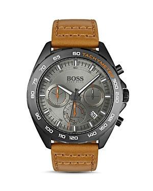 Boss Hugo Boss Intensity Brown Leather Strap Chronograph, 44mm