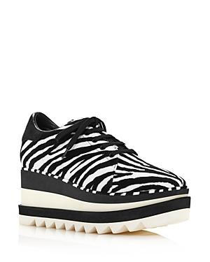 Stella Mccartney Women's Sneak-elyse Zebra-print Sneakers