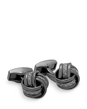 Tateossian Carbon Fiber Knot Cufflinks