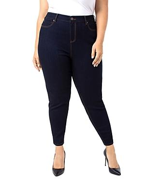 Liverpool Plus Bridget High-rise Ankle Skinny Jeans In Indigo Rinse