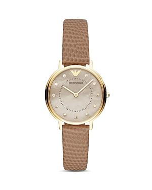 Emporio Armani Mother-of-pearl & Faux Snakeskin-embossed Strap Watch, 32mm
