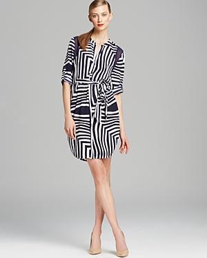 Dknyc Print Shirt Dress