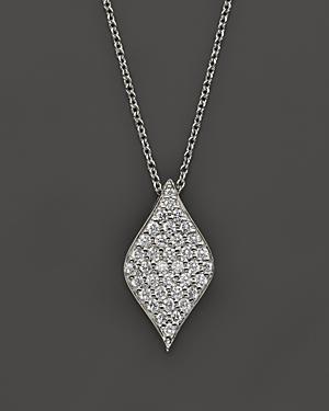 Roberto Coin 18k White Gold Diamond Drop Necklace, 18