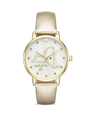 Kate Spade New York Metro Leather Watch, 34mm