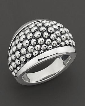 Lagos Sterling Silver Caviar Domed Ring