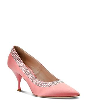 Miu Miu Women's Crystal Embellished Pumps