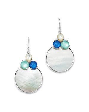 Ippolita Sterling Silver Wonderland Mother-of-pearl Doublet Circle Drop Earrings