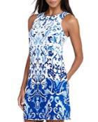 Lauren Ralph Lauren Petites Printed Shift Dress