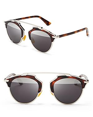 Dior So Real Split Lens Mirrored Sunglasses, 48mm