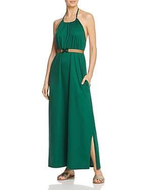 Max Mara Accaio High Neck Belted Maxi Dress Swim Cover-up