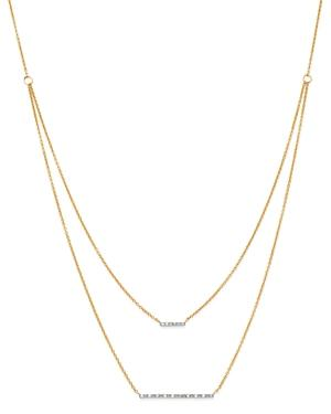 Moon & Meadow Diamond Bar Station Layered Necklace In 14k Yellow Gold, 0.08 Ct. T.w. - 100% Exclusive