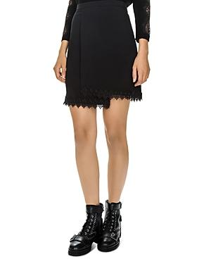 The Kooples Lace-trimmed Crossover Skirt