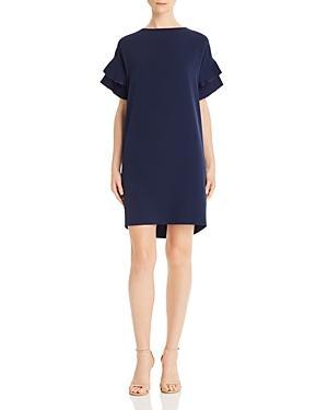 Donna Karan Pleat-detail Dress