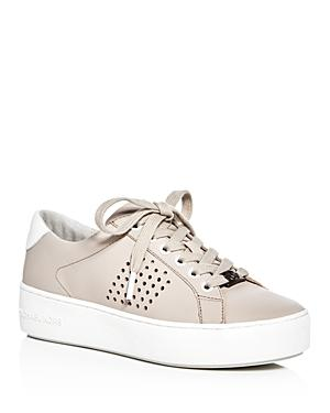 Michael Michael Kors Poppy Perforated Lace Up Platform Sneakers