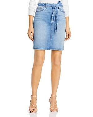Jen7 By 7 For All Mankind Tie-waist Denim Pencil Skirt In Laquinta