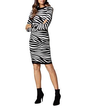 Karen Millen Zebra Stripe Dress