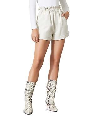 Grlfrnd Shea Leather Paperbag Shorts