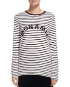 Whistles Striped Graphic Tee