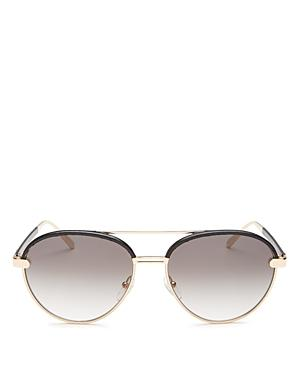 Salvatore Ferragamo Women's Brow Bar Round Sunglasses, 59mm