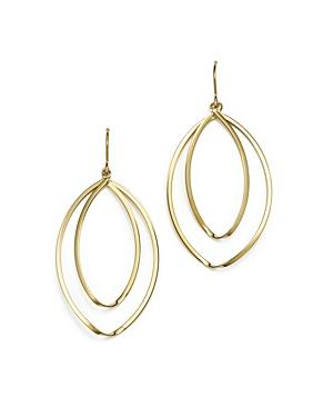 14k Yellow Gold Double Twist Hoop Earrings