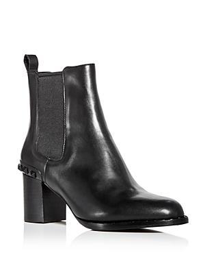 Ash Women's Vertigo Studded Leather Block-heel Booties
