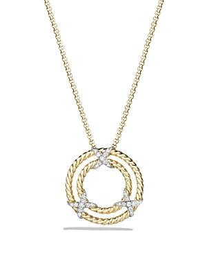 David Yurman Pendant Necklace With Diamonds In 18k Yellow Gold