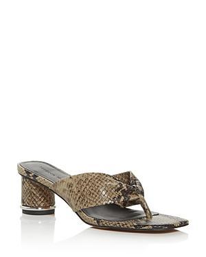 Rebecca Minkoff Women's Abrianna Thong High-heel Sandals