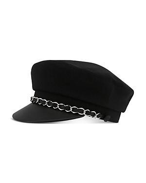 The Kooples Chain-detail Newsboy Hat