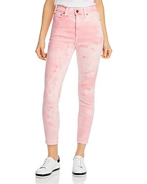 Alice + Olivia High-rise Good Skinny Jeans In Crystal Cloud Pink
