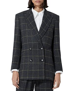 The Kooples Plaid Double Breasted Blazer