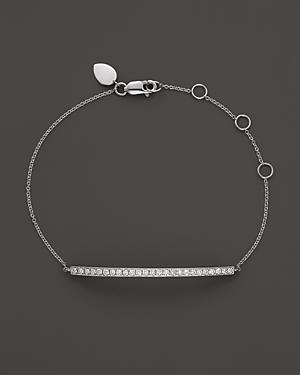 Meira T 14k White Gold Bar Bracelet
