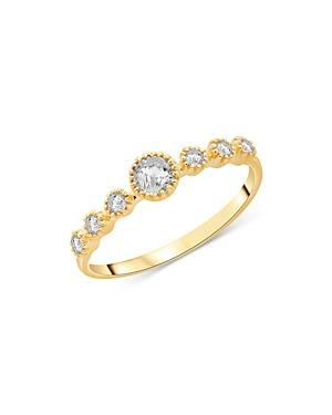 Bloomingdale's Diamond Bezel Set Stacking Ring In 14k Yellow Gold, 0.30 Ct. T.w. - 100% Exclusive