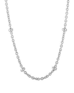 Charmbar Adjustable Bead Station Necklace In Sterling Silver Or 14k Gold-plated Sterling Silver, 16-18
