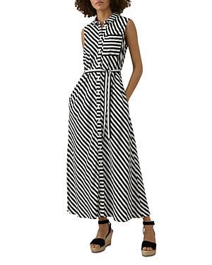Karen Millen Striped Maxi Shirt Dress