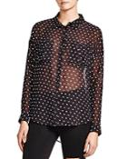 The Kooples Sheer Dot-print Shirt