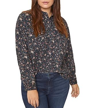 Sanctuary Plus Floral-print Collared Top