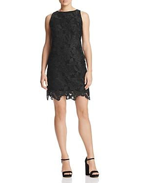 Three Dots Abstract Netted Lace Shift Dress