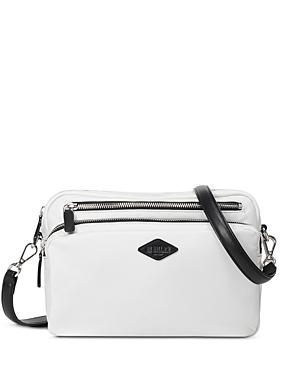 Mz Wallace Gramercy Small White & Black Crossbody