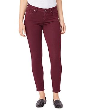 Paige Verdugo Ankle Skinny Jeans In Vintage Deep Berry