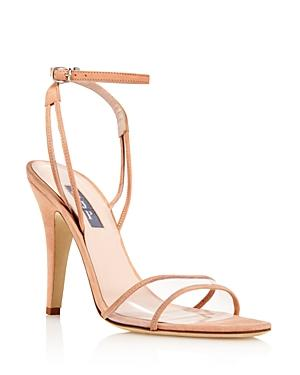 Sjp By Sarah Jessica Parker Women's Queen Suede Illusion High Heel Sandals - 100% Exclusive