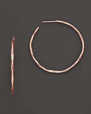Ippolita Rose Hammered Hoop Earrings