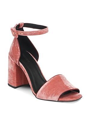 Whistles Women's Hedda Velvet Block Heel Sandals