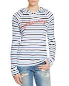 Sundry Getaway Striped Hoodie