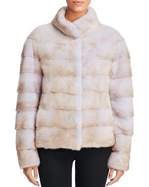 Maximilian Furs Grooved Mink Fur Coat