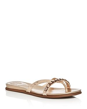Vince Camuto Eddinal Metallic Embellished Thong Sandals