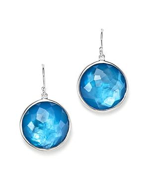Ippolita Sterling Silver Wonderland Large Lollipop Doublet Drop Earrings In Blue Ice