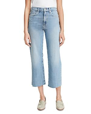7 For All Mankind Alexa Cropped Straight Leg Jeans In Trio
