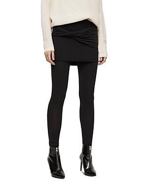 Allsaints Raffi Twist Skirt-overlay Leggings